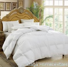 OEM 100% Cotton White Duck Down Feather Quilt / Duvet / Comforter with Baffle Box Walls