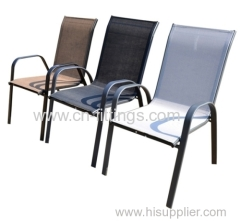 outdoor textilene piled high chairs