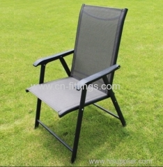 outdoor textilene piled high chairs with engineering-plastics