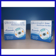 Easy to use glucose meter test paper
