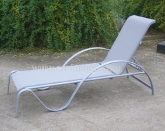 outdoor textilene recliners with aluminium frame