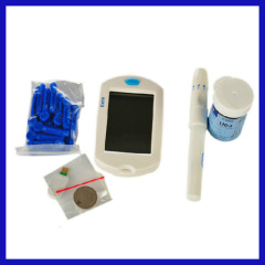 Household electronic blood glucose test strips containing analytical instruments