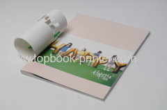 Custom textured paper cover die cutting and gold stamping softcover or softback book with ribbons