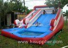 Customized Funny Large Inflatable Water Slide For Pool , EN14960