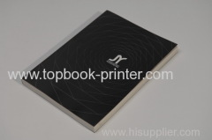 B5 250gsm spot UV coating art paper cover softback book sewn with threads
