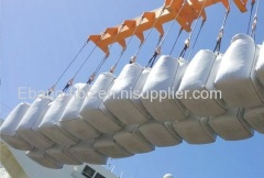 4 loop fill spout plain bottom U-panel bulk bag