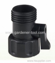 Plastic hose valve for joint hose and hose end.