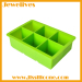 Silicone 6 big cavitives ice cube tray china