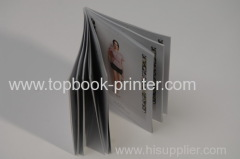 custom-design silver stamped cover clothing catalog thread glue bound softcover or softback book