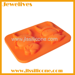 Silicone chocolate mold with 2 cartoon shape