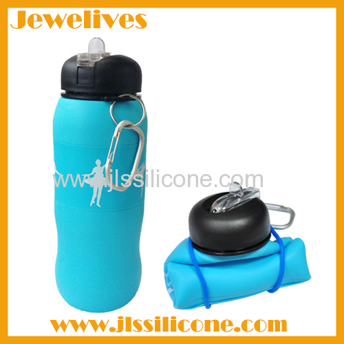 Silicone hot selling water bottle with different pattern