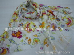 Printed scarf polyester scarf