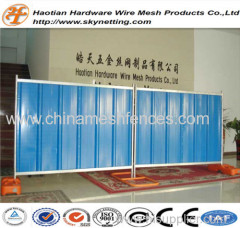 PVC coating and hot dipped galvanized corrugated colorbond temporary fence steel hoarding