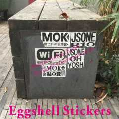 Outdoor Use Strong Adhesive Eggshell Sticker
