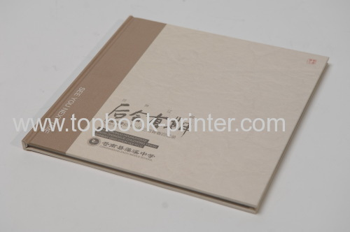 UV coated cotton cloth cover design customized landscape hardcover book