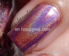 rainbow of holographic pigment for nail polish