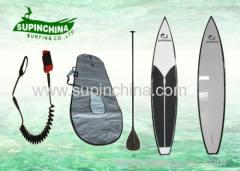 high speed water ski surfing Joe Bark Paddleboards race board of pin tail