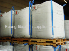 PP u-panel breathable bulk bag with overlock and chain stitch