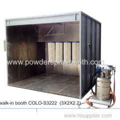 powder coating spray room