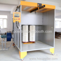 PLC controller cartridge filters powder coating booth