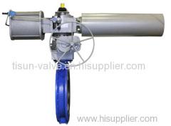 pneumatic control butterfly valve