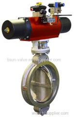 rubber line butterfly valve