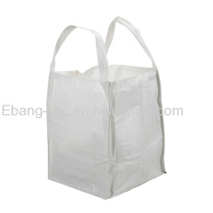 2 loop plain bottom open top flexible intermediate bulk container