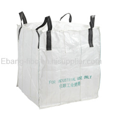 plain bottom 4 loop industrial use jumbo size bulk bag