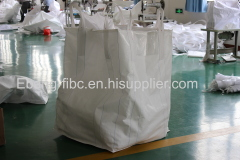 big bag with filling and discharge spout