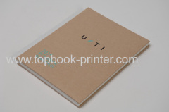 Unique three-layer kraft paper sponge matt lamination gold stamped cover hardcover book