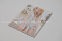 silver stamped matte lamination cover softback or softcover book with PVC dust jacket