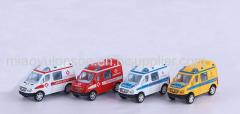 Pull back die cast ambulance toys car