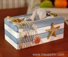wood/ mediterranean style tissue box
