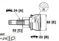 Wheel side CV Joint for NISSAN