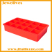 BPA FREE silicone ice cube tray with 15 cavitives hot selling
