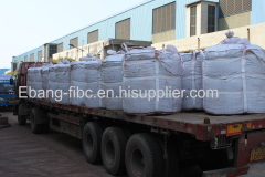 Peat and tree bark peat soil transport jumbo bag