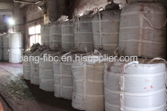 Quartz sand storing and transporting 4 loop bulk bag
