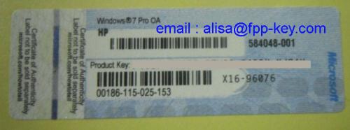Original Windows Product Key For Windows 7 Professional Win 7 Hp Oem Coa 1005 Manufacturer From China Fpp Key Co Ltd