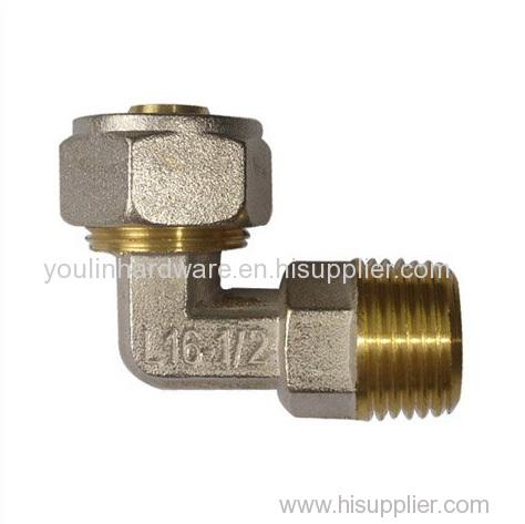 Zinc plating brass forging elbows
