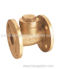 Forged brass sand blasting flange valve