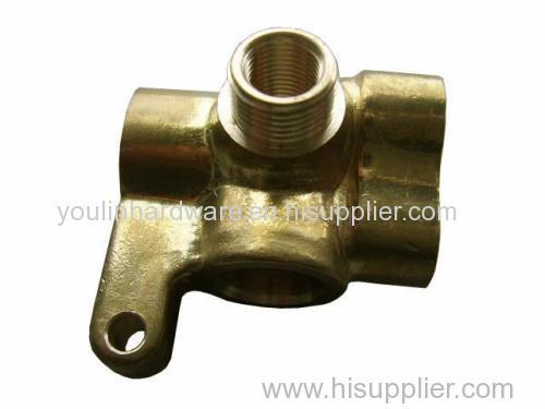 Forged sand blasting brass welding components