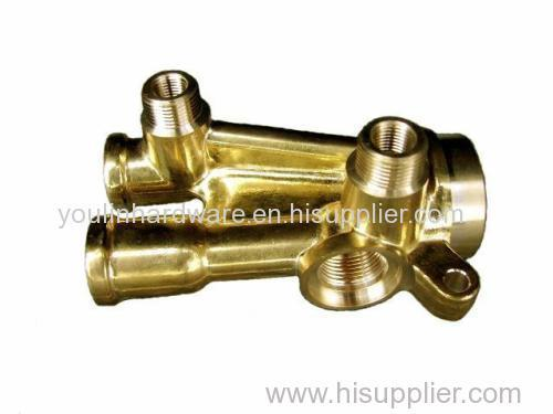 Precision brass welding connector