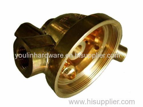 OEM service sand blasting brass valve connector