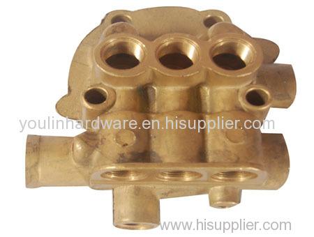 Forged OEM sand blasting brass multiple valve