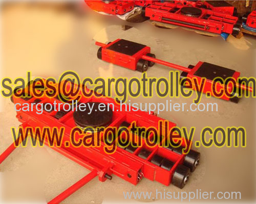 Three point machinery skates move loads easily
