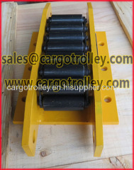 Steel chain roller skids CT model