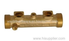 Brass sand blasting heat meter base