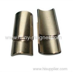 Arc Shaped Grade N40 Sintered NdFeB Magnet