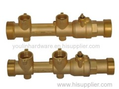 Four way brass forged pump base