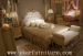 Wood bed bedroom sets neo classic style